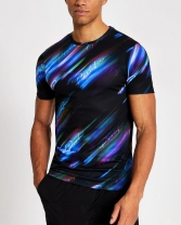 River Island Prolific Black Printed Muscle Fit T-Shirt, €25 http://bit.ly/35Nsh31