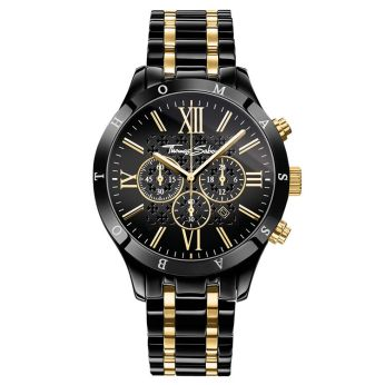 Thomas Sabo Black & Gold Rebel Urban Watch, €398 http://bit.ly/2RpAYwE