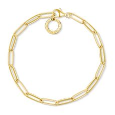 Thomas Sabo Long Chain Charm Bracelet in 18k Yellow Gold, €79 http://bit.ly/2RmBwn7