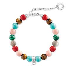 Thomas Sabo Multicoloured Beaded Charm Bracelet, €49 http://bit.ly/2YbCjIR