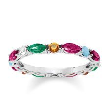 Thomas Sabo Colourful Stones Ring, €129 http://bit.ly/2Ld4D8b