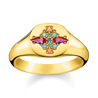 Thomas Sabo Colourful Stones Signet Ring, €149 http://bit.ly/2sGkGoZ