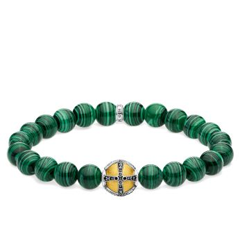 Thomas Sabo Green Bead Cross Bracelet, €149 http://bit.ly/2OTCeX4