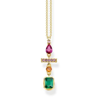 Thomas Sabo Magic Stones Colourful Mix of Forms Necklace in 18k Yellow Gold, €198 http://bit.ly/2syPlUR