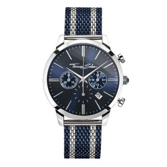 Thomas Sabo Navy & Silver Rebel Spirit Chrono Watch, €329 http://bit.ly/2sNcbbu