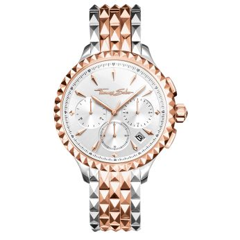 Rebel At Heart Chronograph Watch in Rose Gold & Silver, €549 http://bit.ly/2r1I1ku