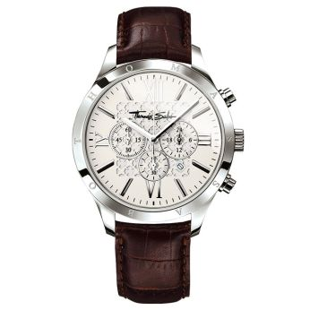 Thomas Sabo Rebel Urban Leather Strap Watch, €279 http://bit.ly/2OU5SLZ