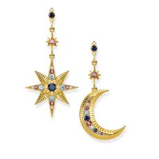 Royalty Star & Moon Earrings, €198 http://bit.ly/360m0B8