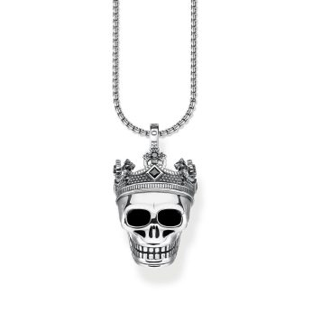 Thomas Sabo Skull Crown Pendant and Chain Necklace, €208 http://bit.ly/2P9ohmR