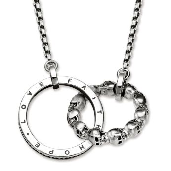 Skull, Love, Faith Hope Linked Circles Chain, €259 http://bit.ly/380yAm1
