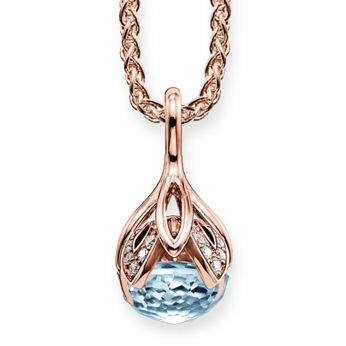 Thomas Sabo Sky Blue Topaz & White Diamond Lotus Flower Necklace, €1,290 http://bit.ly/2P41CbK