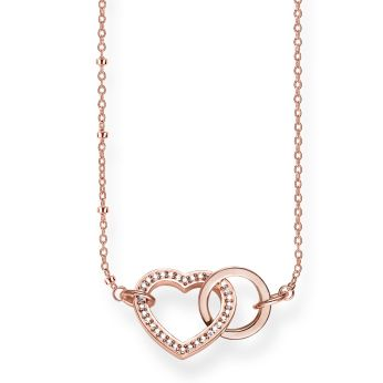 Thomas Sabo Together Forever Heart Necklace in 18k Rose Gold, €198 http://bit.ly/2DC3XVT