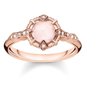 Thomas Sabo Vintage Rose Quartz Ring, €179 http://bit.ly/2RdBRsc
