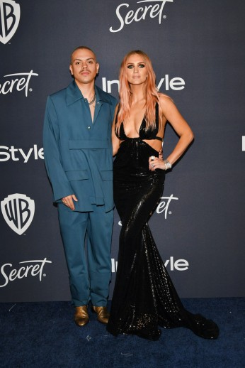 Evan Ross and Ashlee Simpson