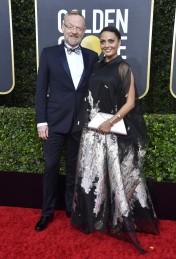 Jared Harris and Allegra Riggio