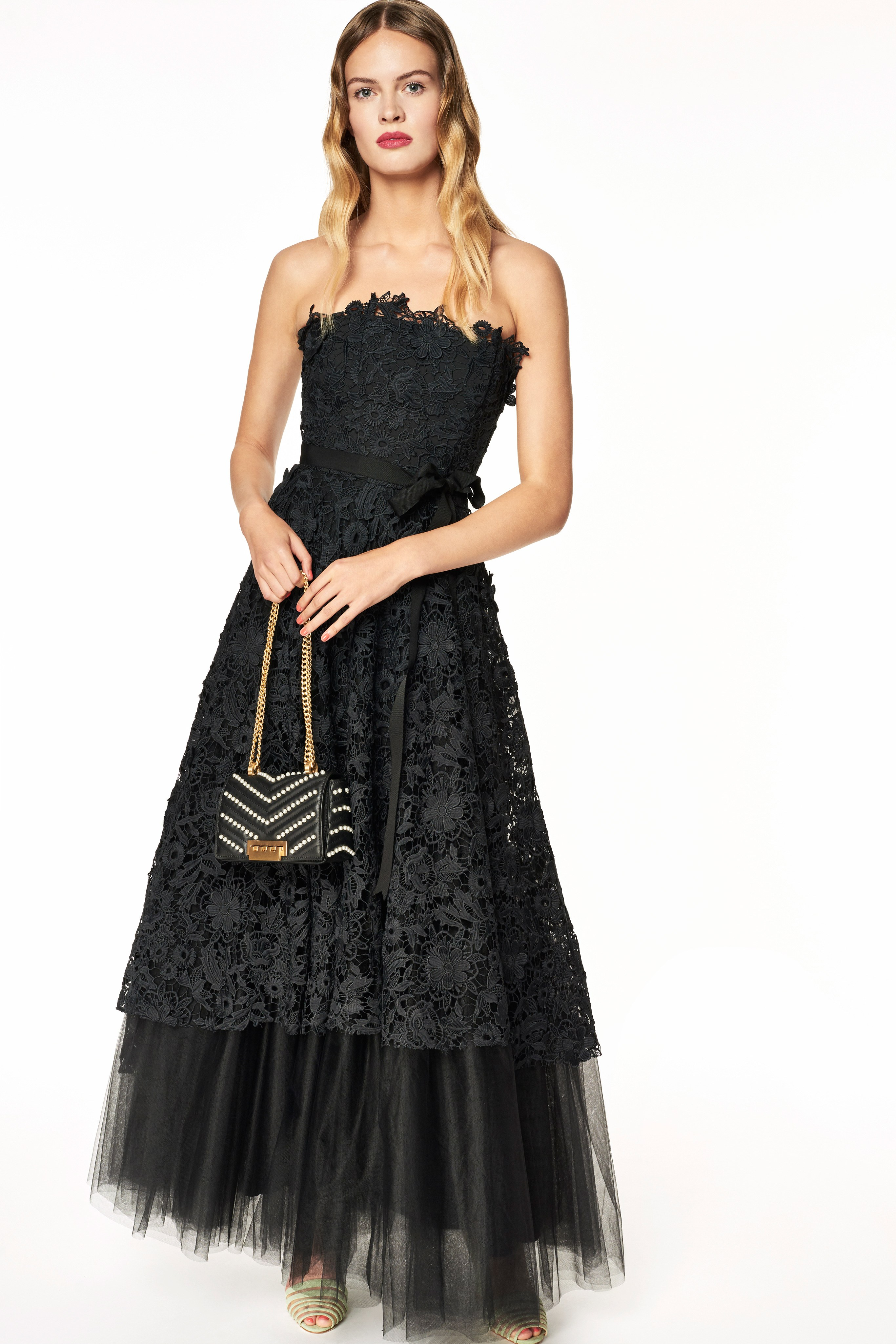 damenmode ted baker arieal textured frill pleat shoulder