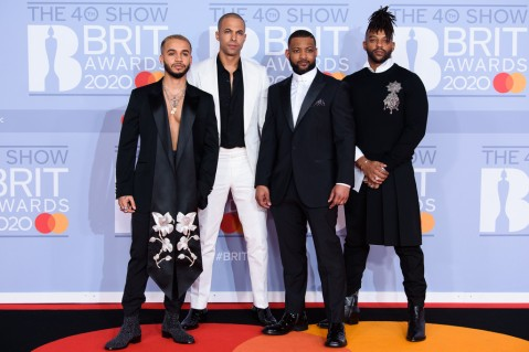 Aston Merrygold, Marvin Humes, JB Gill and Oritsé Williams of JLS