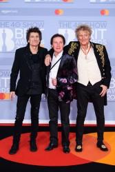 Ronnie Wood, Kenney Jones and Rod Stewart