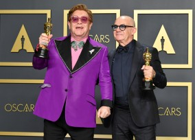 Sir Elton John and Bernie Taupin won the Academy Award for Best Song for 'Love Me Again' from 'Rocketman'