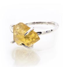 Caroline Stokesberry-Lee Citrine Rock Ring, €110 https://bit.ly/3bJX9oC