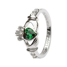 Claddagh Ring with May Birthstone, €55 https://bit.ly/2W5d2zd
