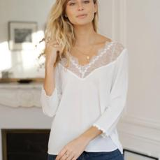 Coco Boutique Delilia White Lace Top, €49 https://bit.ly/3bMNdKT