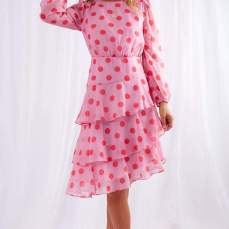 Coco Boutique Tilly Pink Polka Dot Dress, €79 https://bit.ly/2SgjBhh