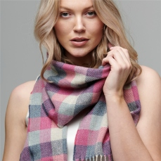Magee 1866 Luxury Pink Herringbone Patchwork Scarf, €49 https://bit.ly/2KGGhmJ