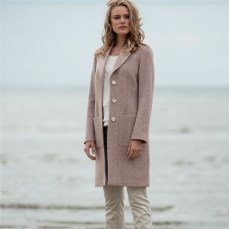 Magee 1866 Pink Emma Herringbone Donegal Tweed Coat, €995 https://bit.ly/3bKqUWv