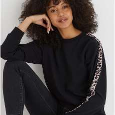 Oliver Bonas Animal Print Tape Black Sweatshirt, €47.50 https://bit.ly/2yNeL4s