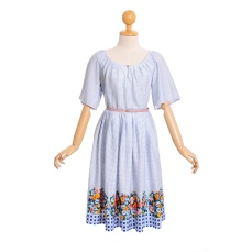 Gingham Printed Dress with Floral Hemline, €55 https://bit.ly/2SsM9EH