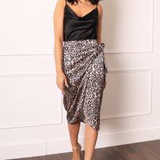 Starla Leopard Print Satin Wrap Style Skirt, €30 https://bit.ly/2KBNDYz