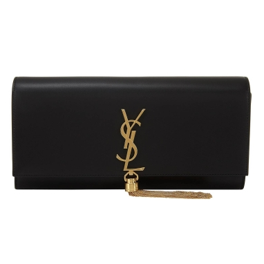 Saint Laurent Kate Monogram Tassel Clutch Bag, €1250 https://bit.ly/35MIBT2