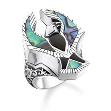 Thomas Sabo Eagle Ring with Onyx and Abalone Mother-of-Pearl, €398 https://bit.ly/31zIvOA