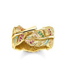 Thomas Sabo Gold Feather Ring, €279 https://bit.ly/38mHivd