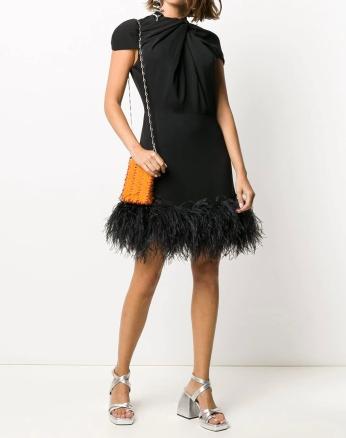 16Arlington Feather Hem Dress, €1,381 https://bit.ly/2EZdme5