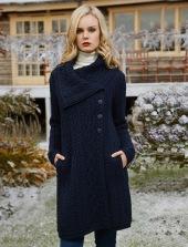 Aran Sweater Market Large Collar Aran Coat, €110 (was €129.26) https://bit.ly/3jFrqZg