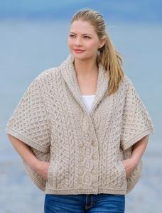 Aran Sweater Market Shawl Neck Aran Batwing Jacket, €76 (was €92.92) https://bit.ly/2Z3bMin