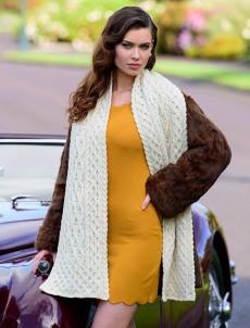 Aran Sweater Market Wool Cashmere Aran Honeycomb Scarf, €50.66 https://bit.ly/3hYLrK2