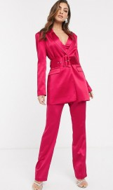 ASOS DESIGN Belted Suit in Satin, from €18.75 https://bit.ly/2QSKeI1