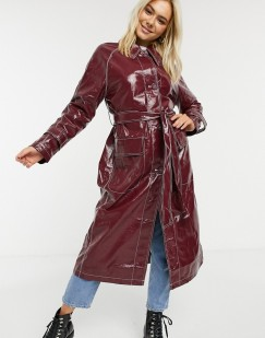 ASOS DESIGN Vinyl Trench Coat with Contrast Stitching, €96.99 https://bit.ly/2YULtuM