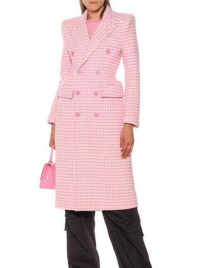 Balenciaga Hourglass Houndstooth Wool Coat, €2,744.52 https://bit.ly/2QPg4Wk