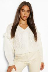 Boohoo Chunky Cable Knit Cropped Cardigan, €18 (was €30) https://bit.ly/36wWp6H