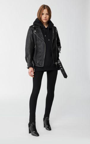 Chloé Oversized Leather Moto Jacket, €1,090 https://bit.ly/3hUUFXB