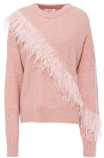 Cinq À Sept Feather-embellished Wool-blend Sweater, €189 (was €421) https://bit.ly/2Dx52C0