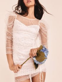 For Love & Lemons Pearl Slip Dress, €175.83 https://bit.ly/2DtUbc0