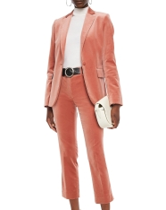 Frame Cotton-blend Velvet Suit: Blazer, €341 (was €682) https://bit.ly/3gWBBXs Trousers, €197 (was €397) https://bit.ly/3jGVELp