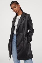 H&M Imitation Leather Jacket, €49.99 https://bit.ly/3jhL1yW