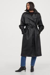 H&M Imitation Leather Trenchcoat, €79.99 https://bit.ly/3hVac9G