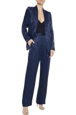 Iris & Ink Star Satin-Twill Suit: Blazer, €78 (was €169) https://bit.ly/3lOrQ1t Trousers, €50 (was €128) https://bit.ly/3boFuUf